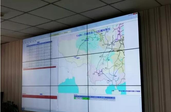西宁火车调度中心  液晶拼接屏案例