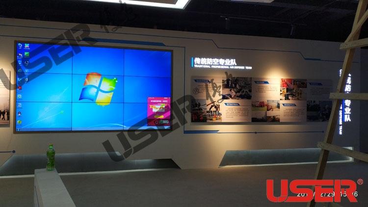 天津某大学46寸3.5mm拼缝3X3亿博客服屏项目