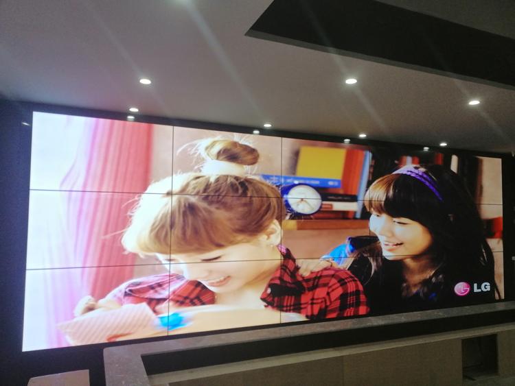 安庆怀宁县农业智慧指挥中心项目55寸3.5mm亿博客服屏项目竣工