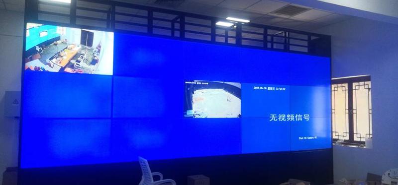 唐山落地机柜55寸1.7mm液晶亿博客服屏竣工