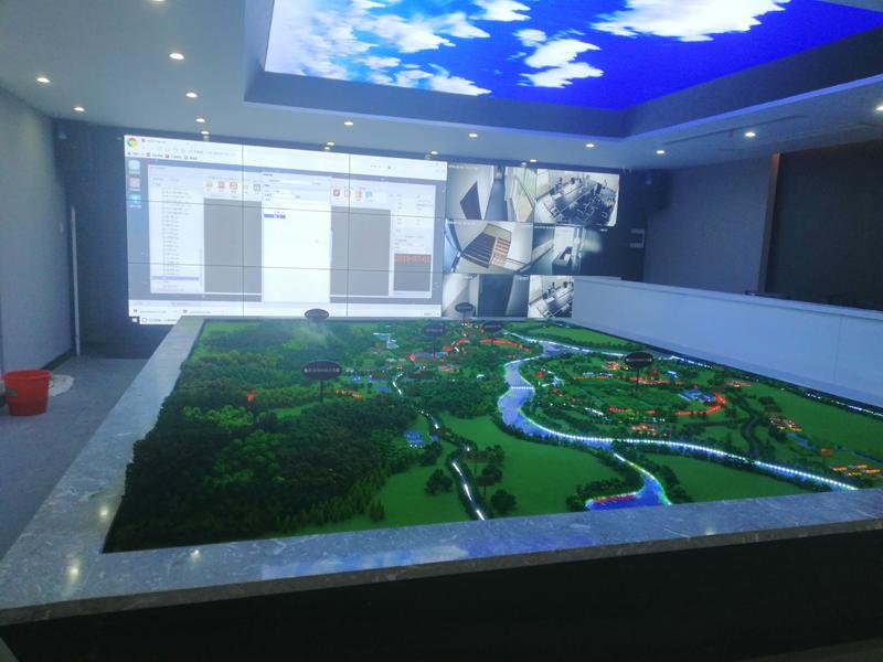 安庆怀宁县智慧农业产业园55寸液晶亿博客服屏项目竣工