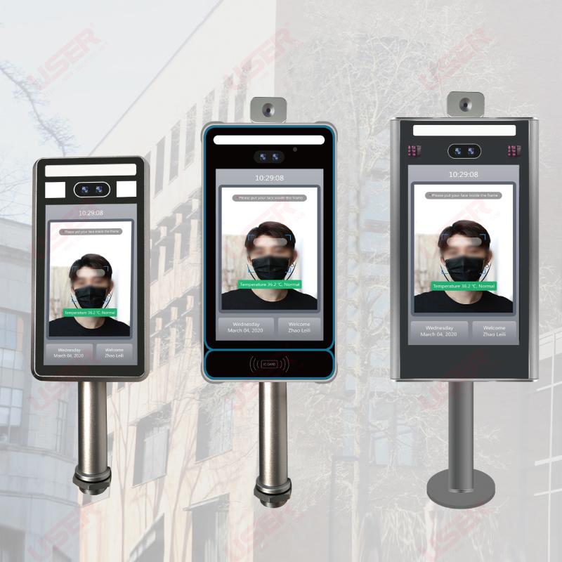 人脸识别红外热成像测温仪 非接触式体温检测道闸门闸终端系统