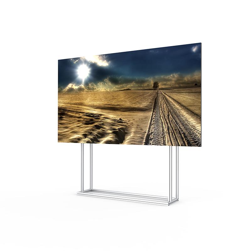 58寸LED亿博客服屏小间距P1.6全彩LED显示屏落地吊挂无缝监控电视墙