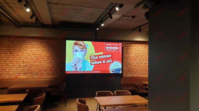 奥地利某茶餐厅55寸亿博客服屏DP环通方案