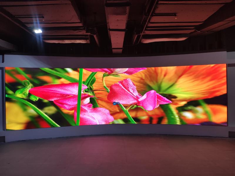 优色专显室内全彩LED显示屏成功助力丰农控股实现线上数据运营